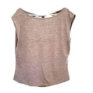 Prana short-sleeve, open-backed top